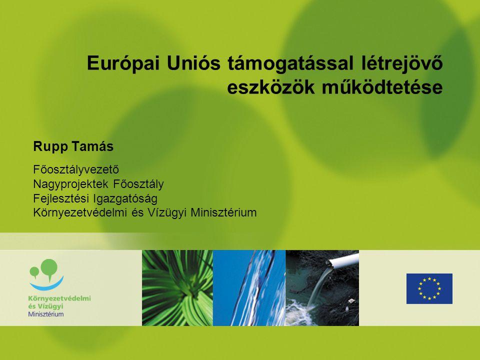 Európai Uniós támogatással létrejövő eszközök működtetése