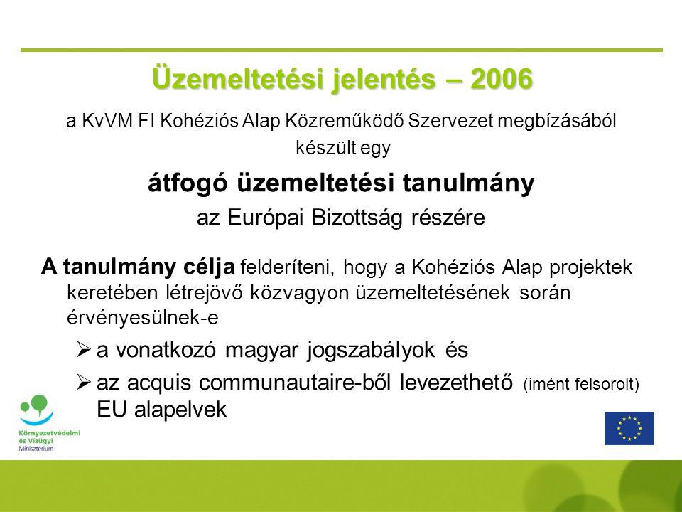 Üzemeltetési jelentés – 2006