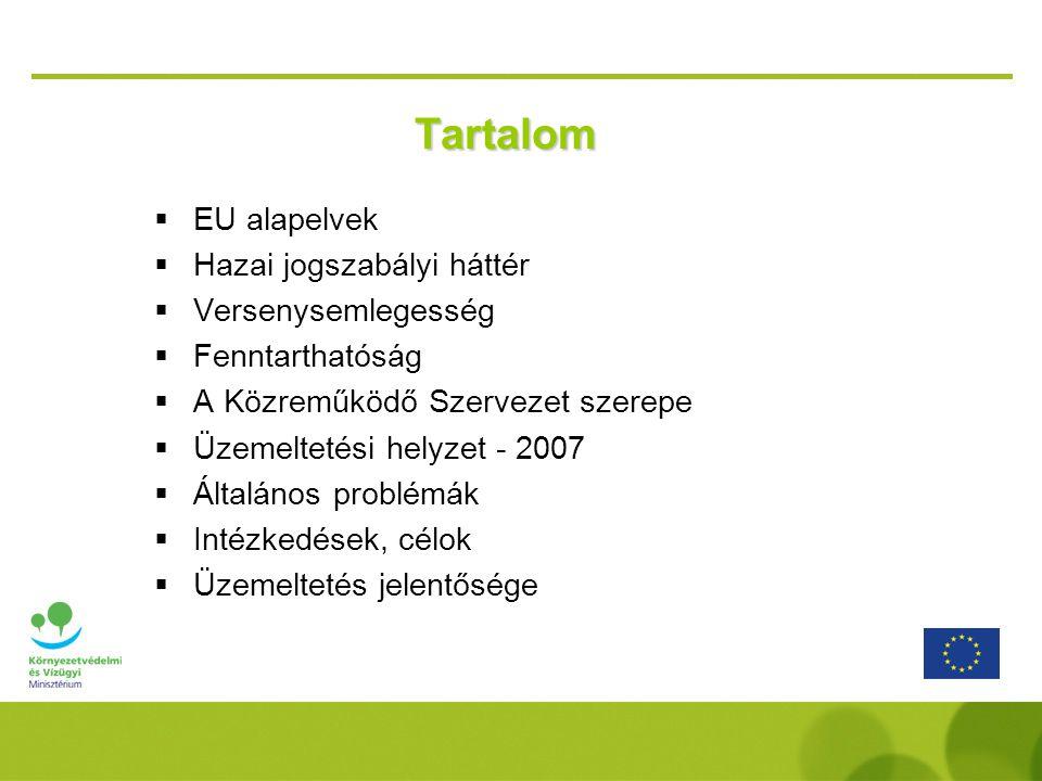 Tartalom EU alapelvek Hazai jogszabályi háttér Versenysemlegesség