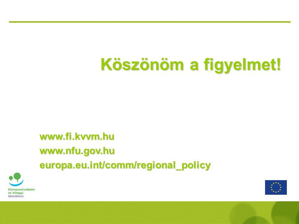 Köszönöm a figyelmet! www.fi.kvvm.hu www.nfu.gov.hu