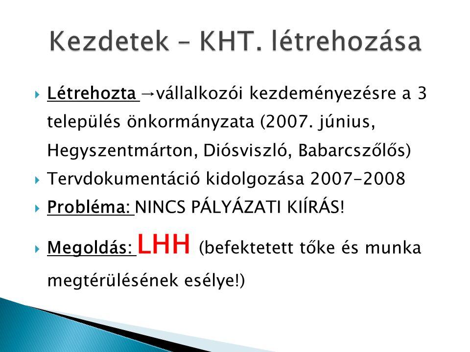 Kezdetek – KHT. létrehozása