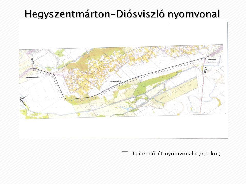 Hegyszentmárton-Diósviszló nyomvonal