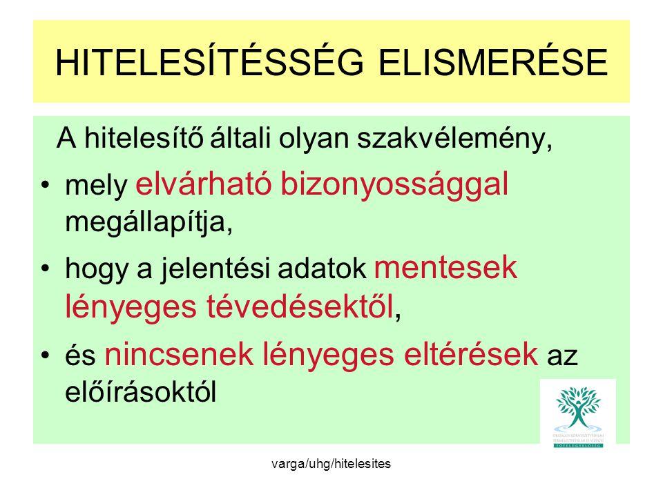 HITELESÍTÉSSÉG ELISMERÉSE