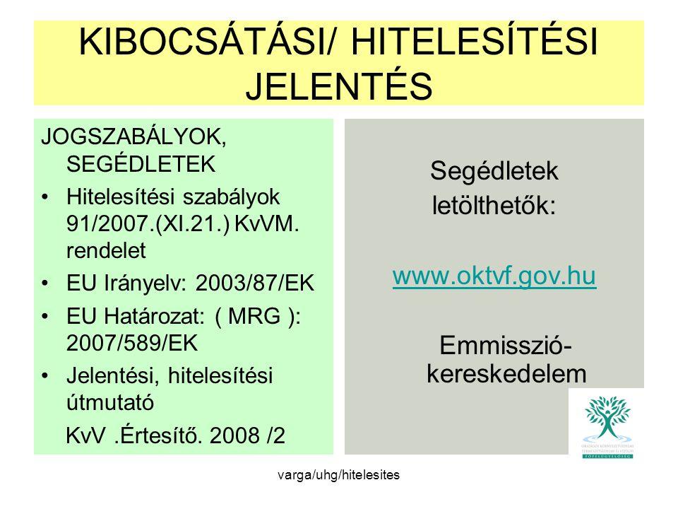 KIBOCSÁTÁSI/ HITELESÍTÉSI JELENTÉS