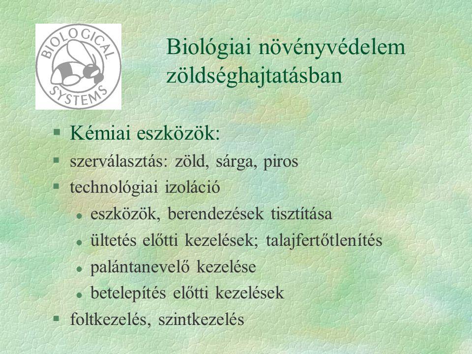 Biológiai növényvédelem zöldséghajtatásban