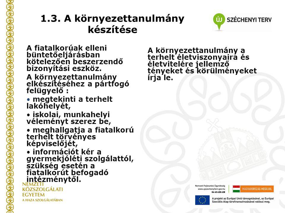 1.3. A környezettanulmány készítése