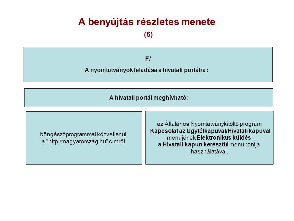 A benyújtás részletes menete (6)