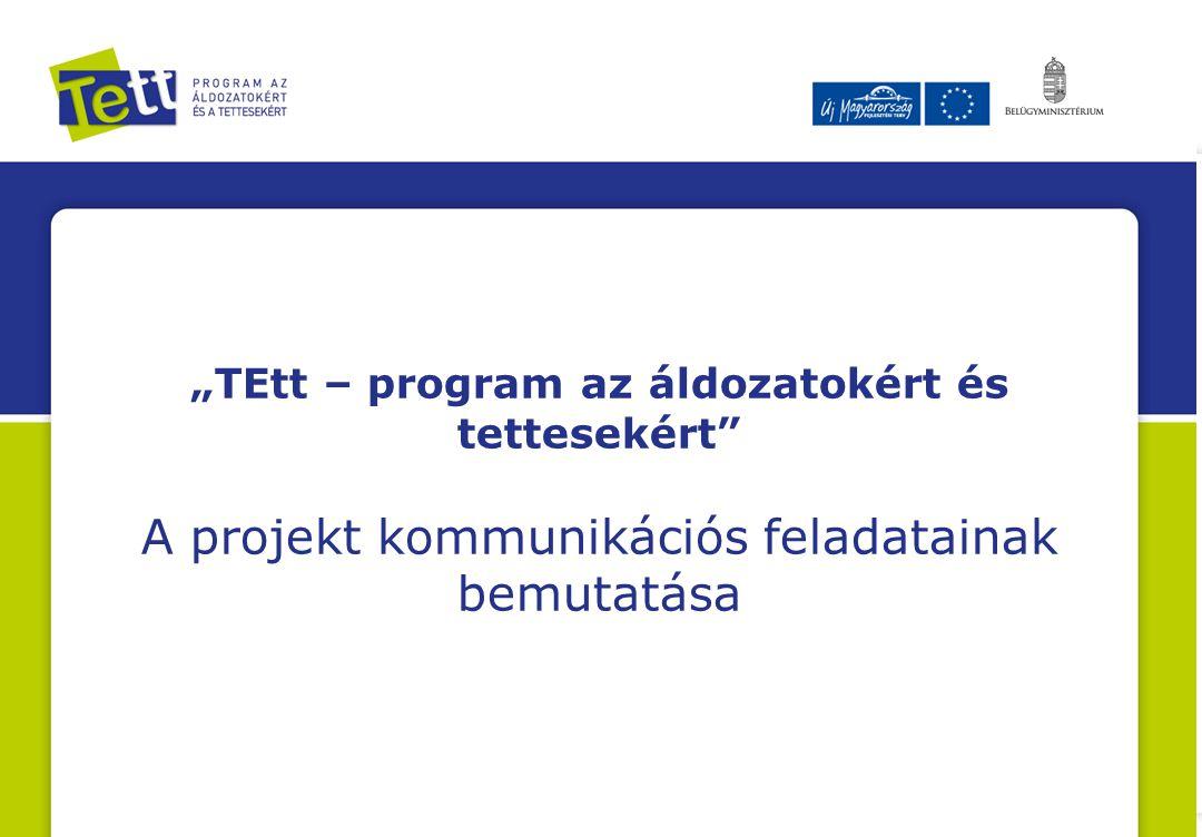 """""""TEtt – program az áldozatokért és tettesekért"""