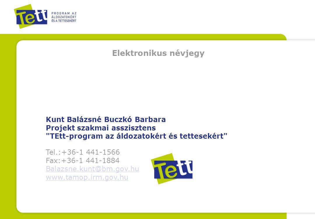 Elektronikus névjegy Kunt Balázsné Buczkó Barbara