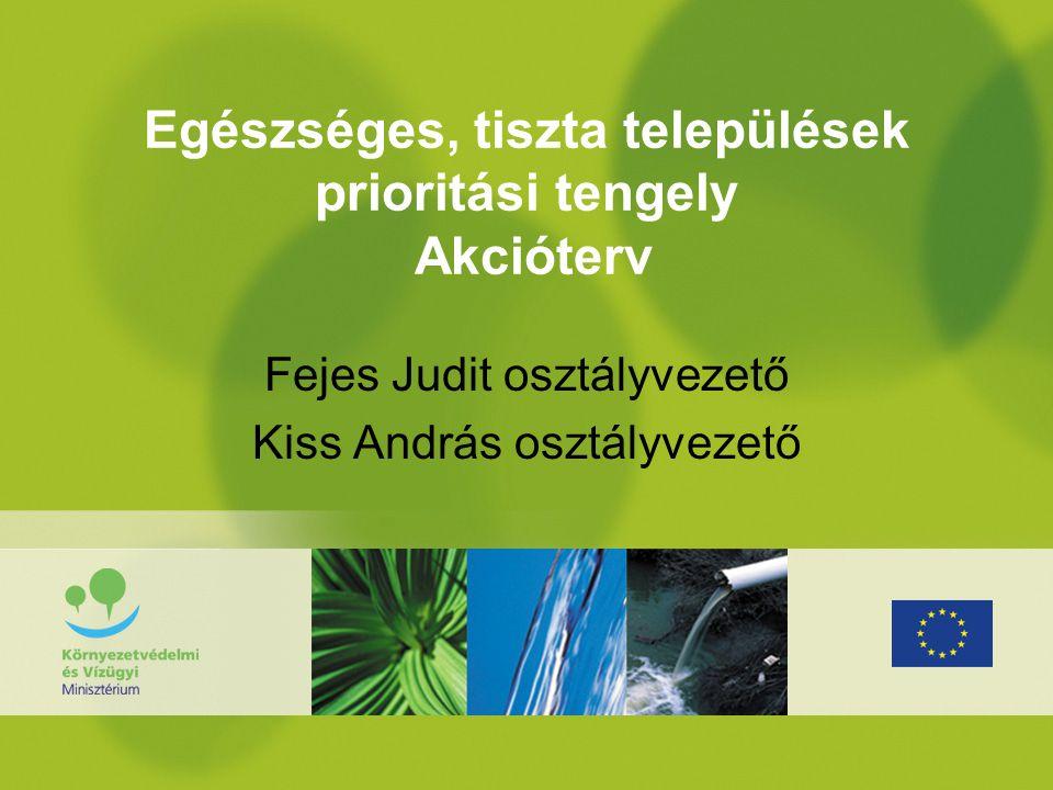 Egészséges, tiszta települések prioritási tengely Akcióterv