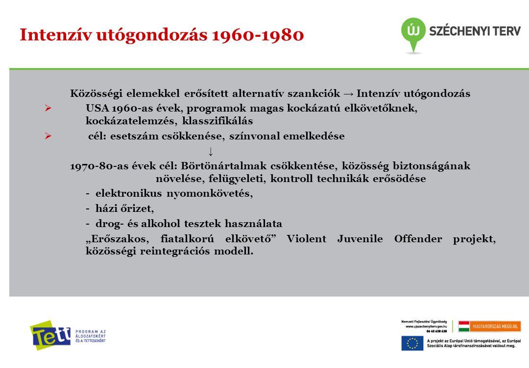 Intenzív utógondozás 1960-1980