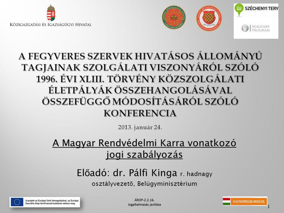 A Magyar Rendvédelmi Karra vonatkozó jogi szabályozás