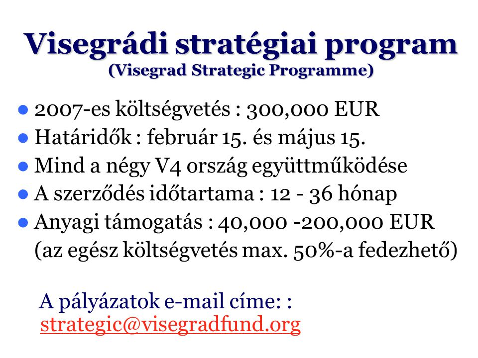 Visegrádi stratégiai program (Visegrad Strategic Programme)