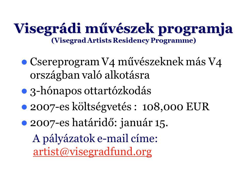 Visegrádi művészek programja (Visegrad Artists Residency Programme)