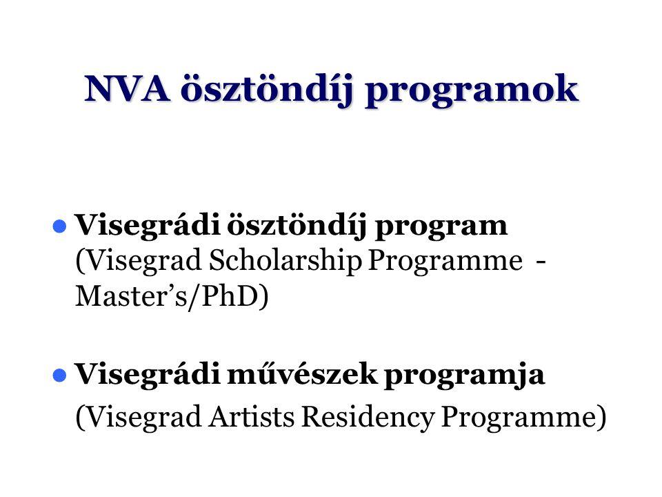 NVA ösztöndíj programok