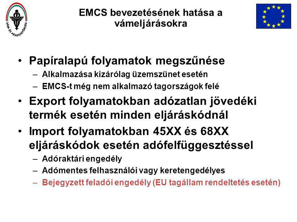 EMCS bevezetésének hatása a vámeljárásokra