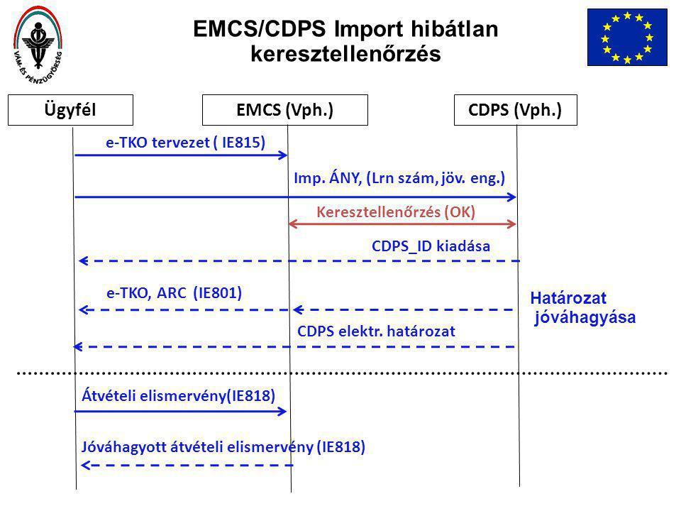 EMCS/CDPS Import hibátlan keresztellenőrzés