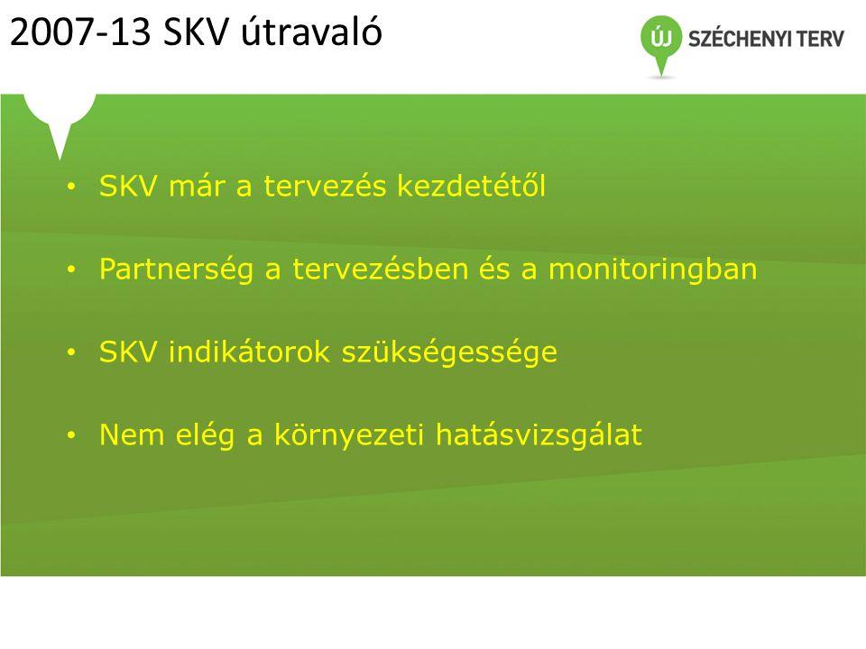 2007-13 SKV útravaló SKV már a tervezés kezdetétől