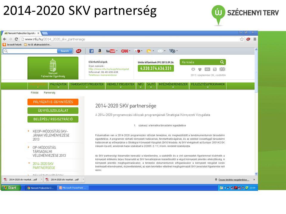 2014-2020 SKV partnerség