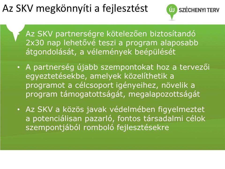 Az SKV megkönnyíti a fejlesztést