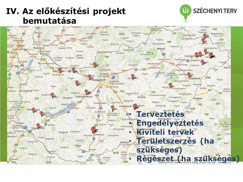 Fejlesztésre javasolt helyszínek