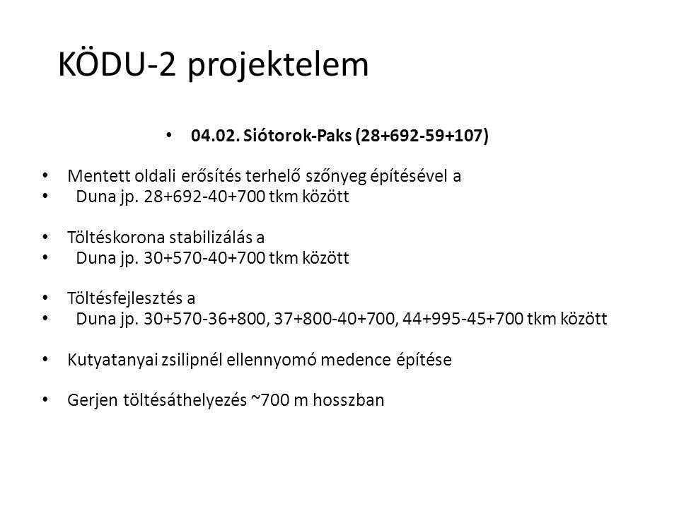 KÖDU-2 projektelem 04.02. Siótorok-Paks (28+692-59+107)