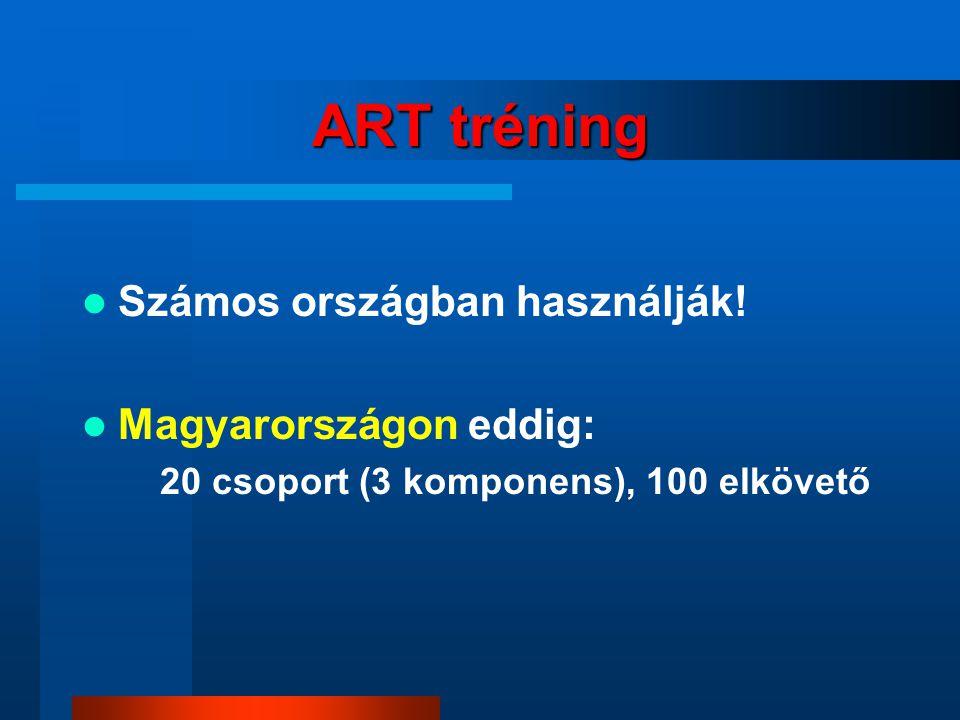 ART tréning Számos országban használják! Magyarországon eddig: