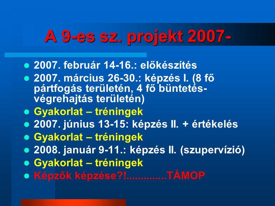 A 9-es sz. projekt 2007- 2007. február 14-16.: előkészítés