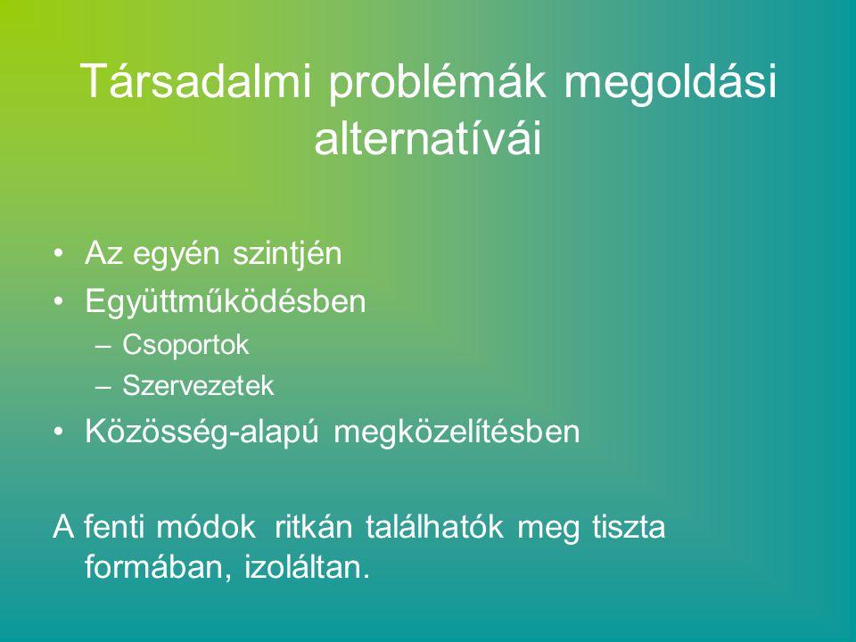 Társadalmi problémák megoldási alternatívái
