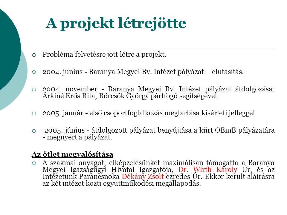 A projekt létrejötte Probléma felvetésre jött létre a projekt.