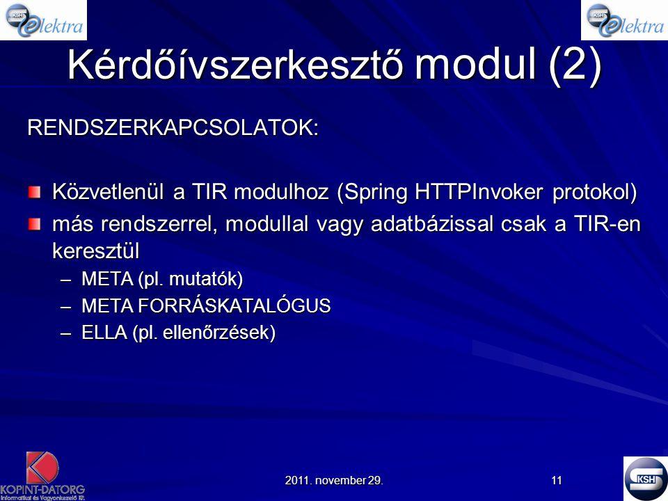 Kérdőívszerkesztő modul (2)
