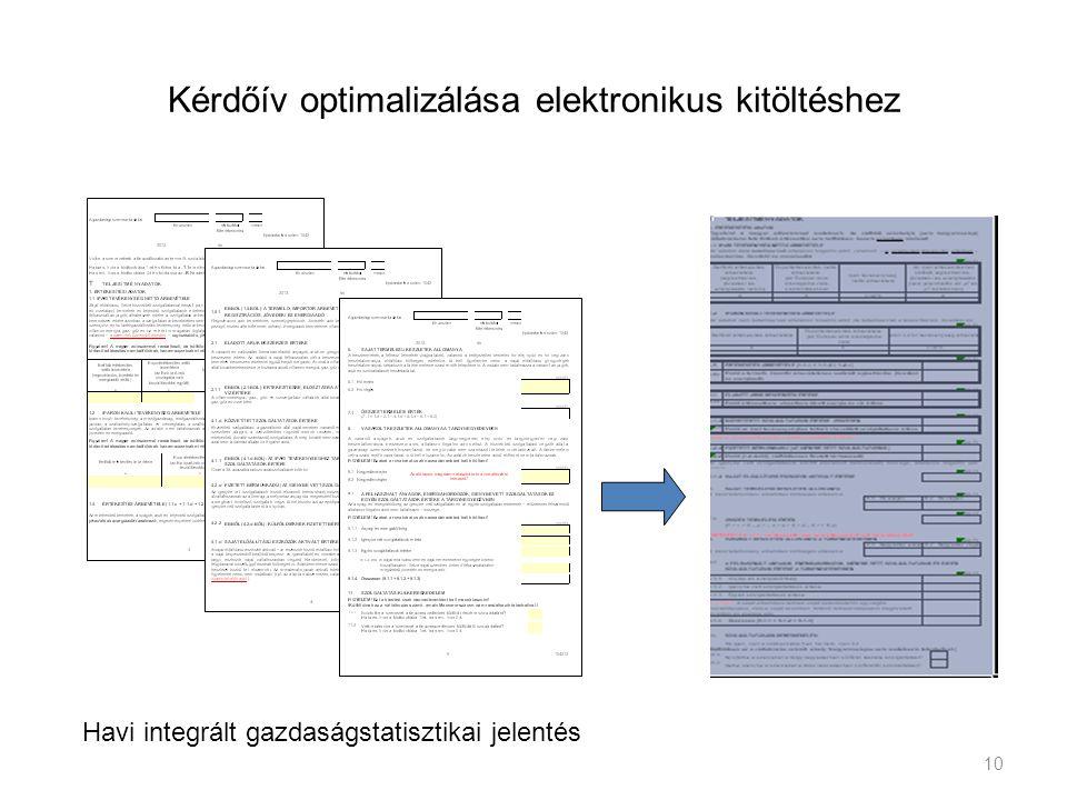 Kérdőív optimalizálása elektronikus kitöltéshez