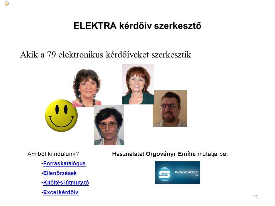 ELEKTRA kérdőív szerkesztő