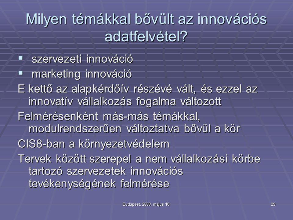 Milyen témákkal bővült az innovációs adatfelvétel
