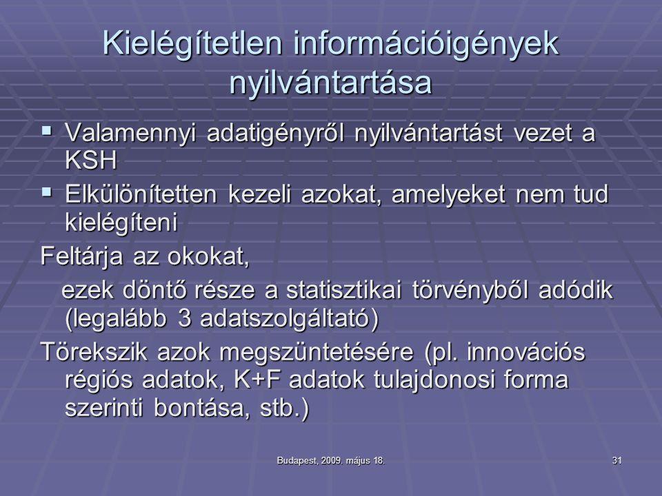 Kielégítetlen információigények nyilvántartása