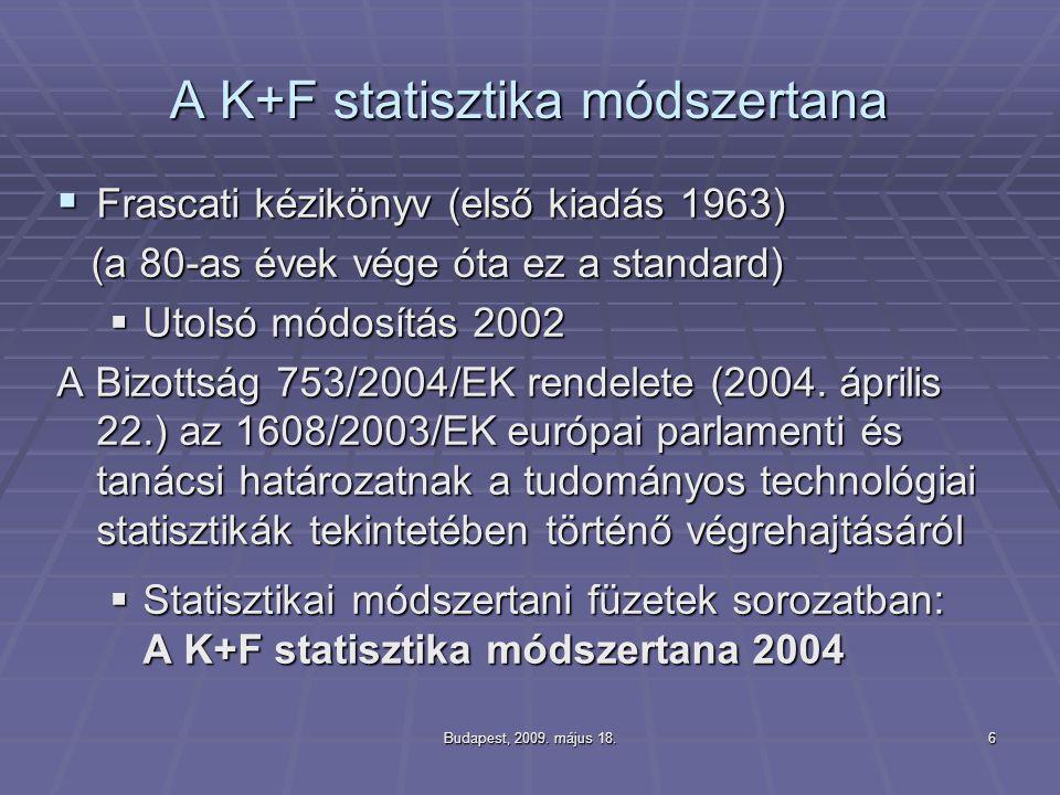 A K+F statisztika módszertana