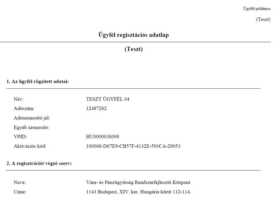 A regisztráció folyamata