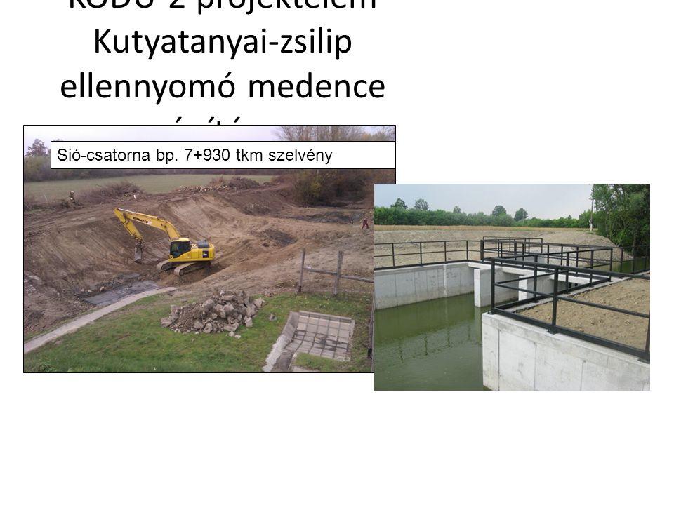 KÖDU-2 projektelem Kutyatanyai-zsilip ellennyomó medence építése