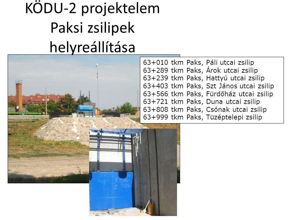 KÖDU-2 projektelem Paksi zsilipek helyreállítása