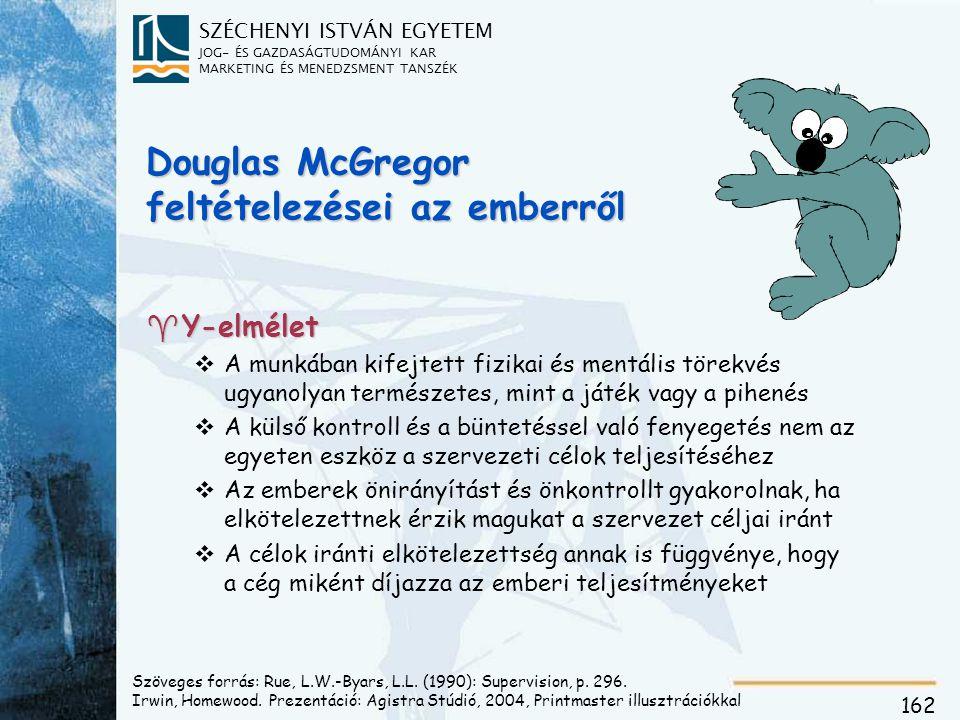 Douglas McGregor feltételezései az emberről