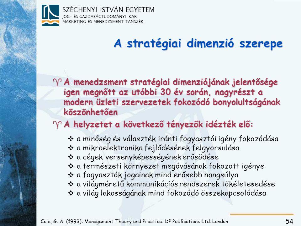 Stratégiai tényezők hatása - példákon