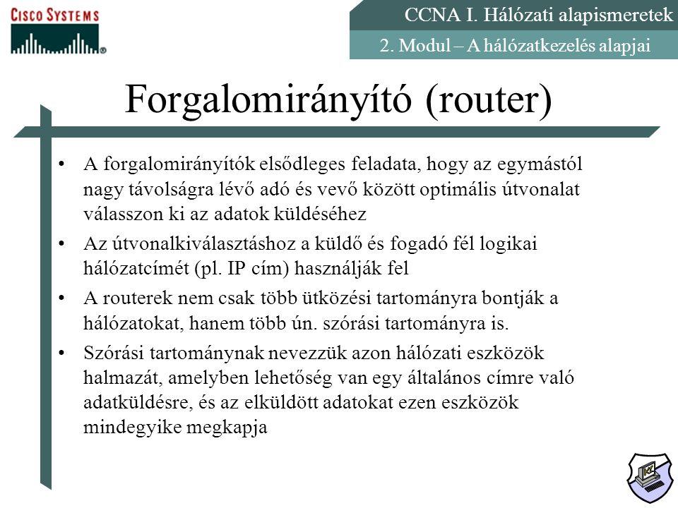 Forgalomirányító (router)
