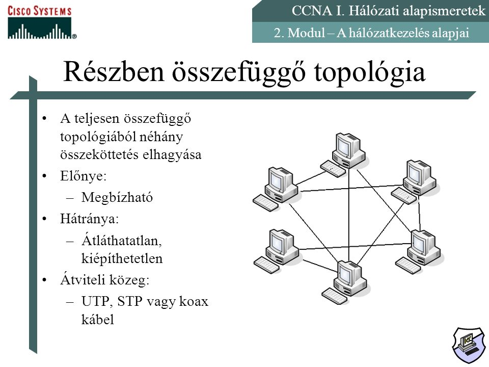 Részben összefüggő topológia
