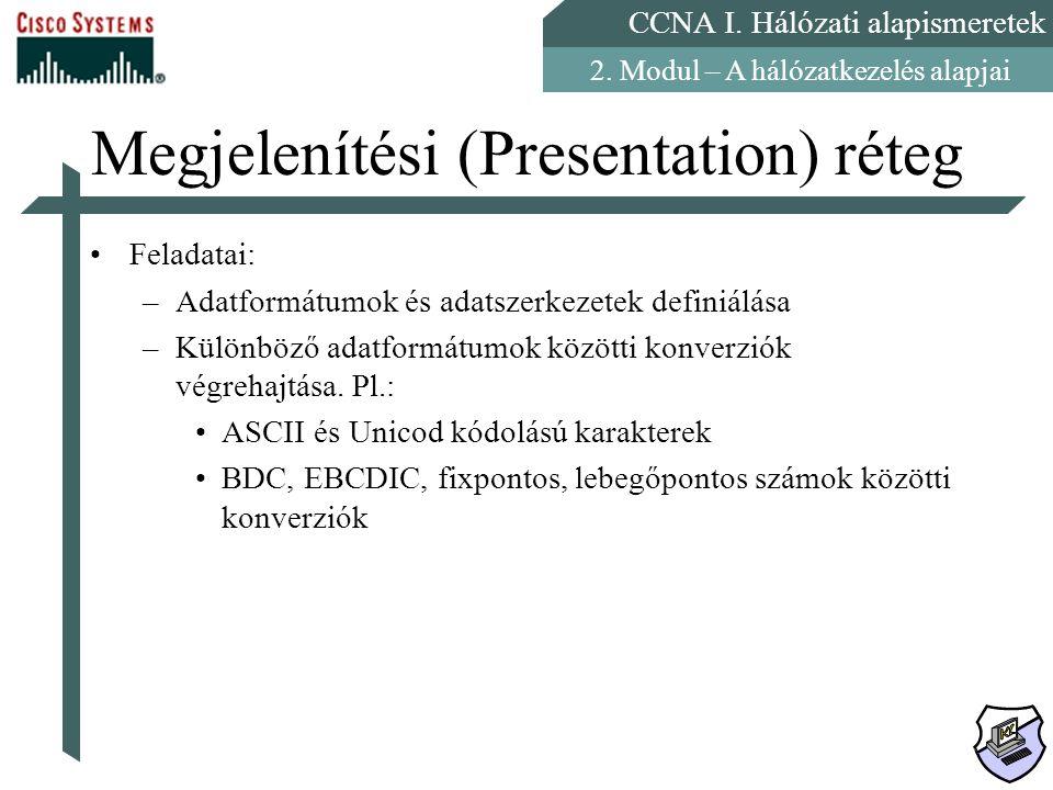 Megjelenítési (Presentation) réteg