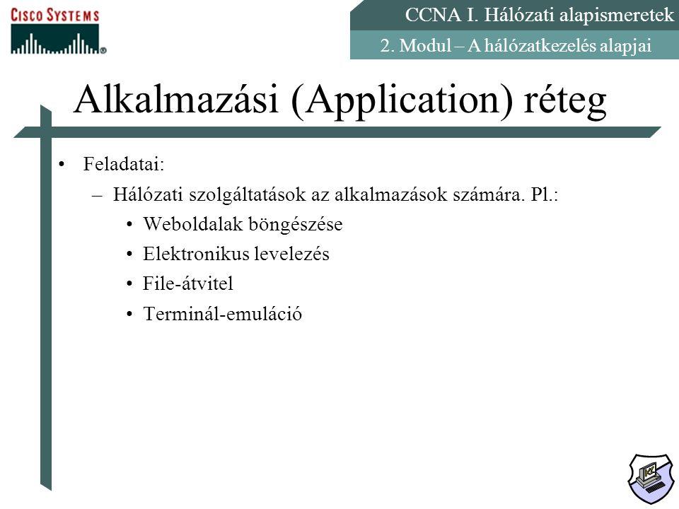 Alkalmazási (Application) réteg