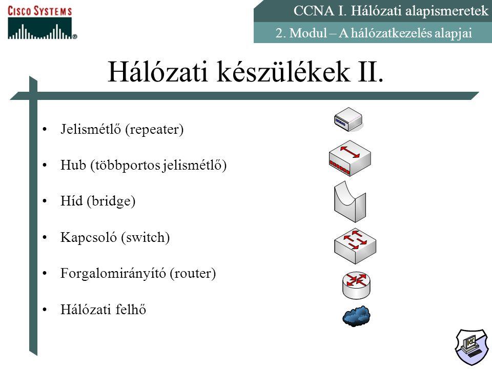 Hálózati készülékek II.