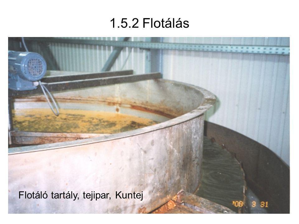 1.5.2 Flotálás Flotáló tartály, tejipar, Kuntej