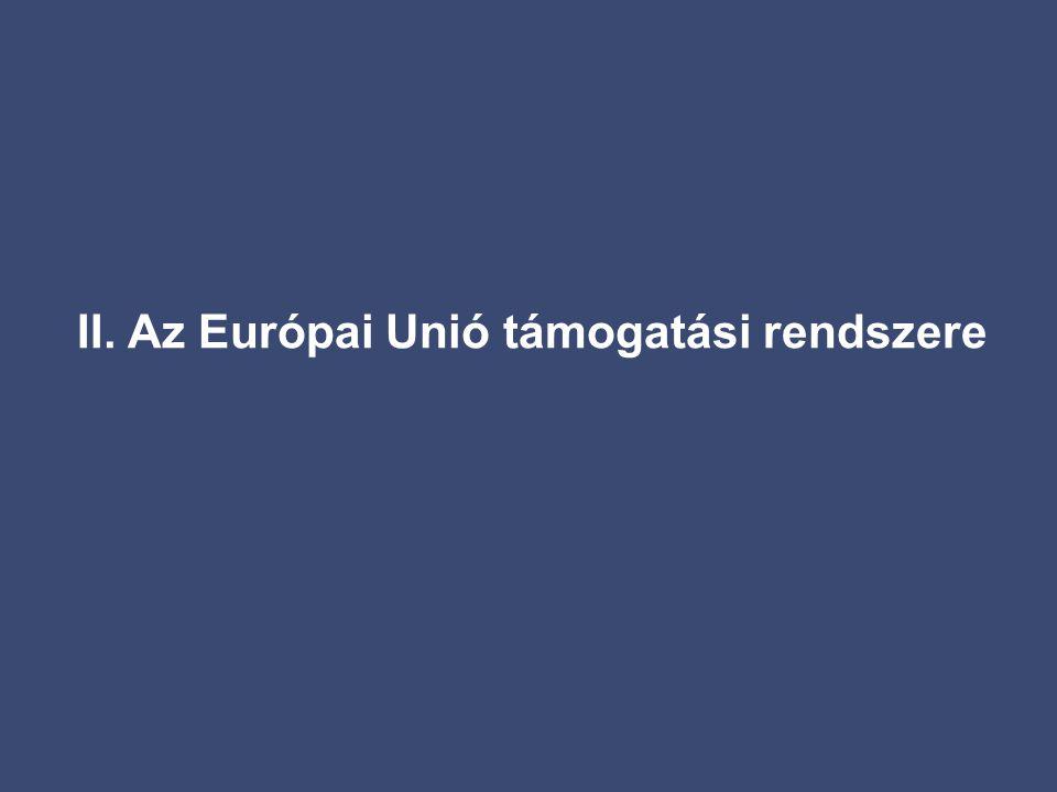 II. Az Európai Unió támogatási rendszere
