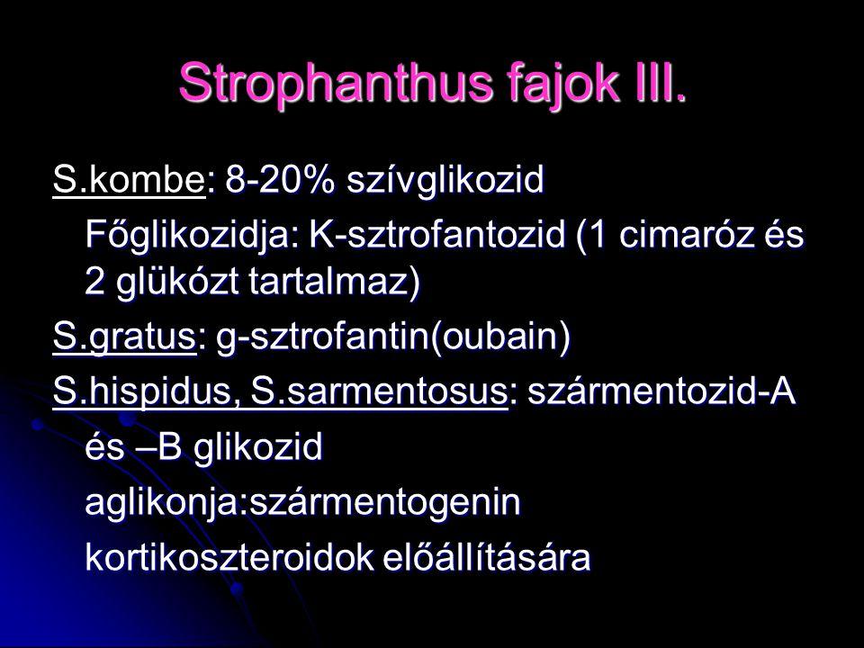 Strophanthus fajok III.
