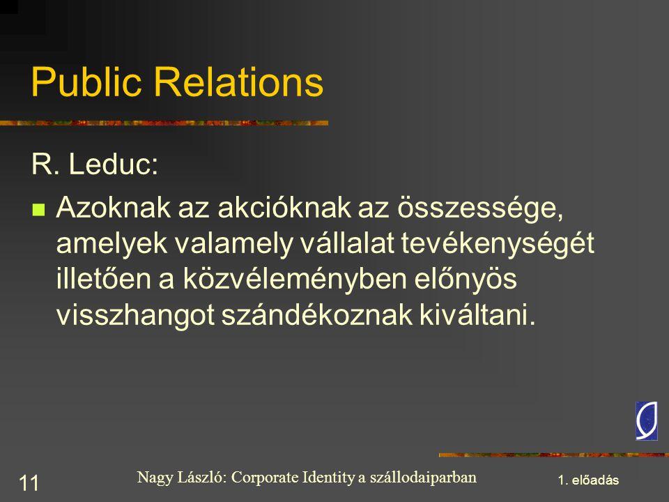 Public Relations R. Leduc: